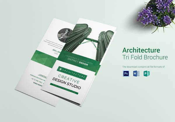 architecture interior tri fold brochure