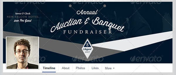 auction and banquet facebook timeline template