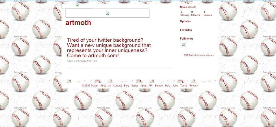 baseballs twitter background
