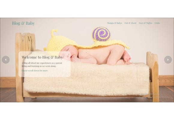 baby blog responsive html template