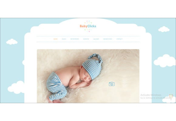 baby photographers theme