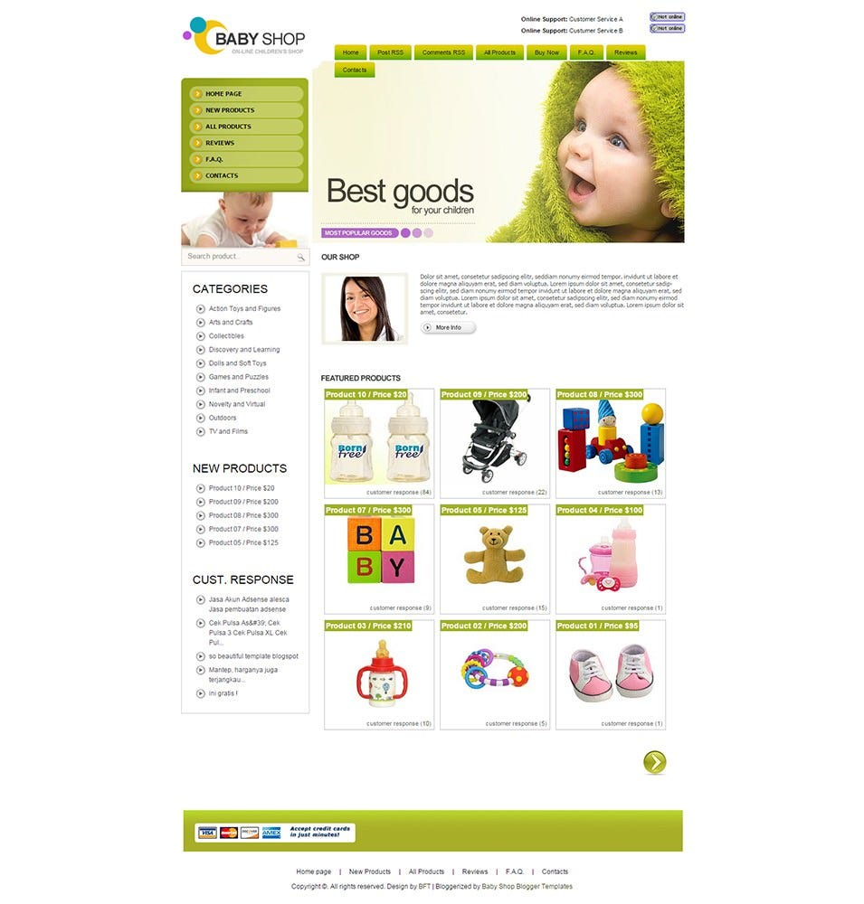 Baby Blogger Template