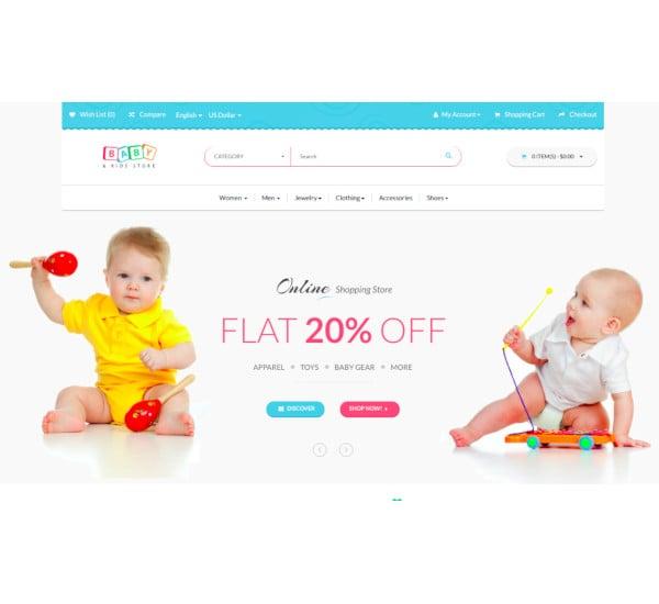 babystore responsive opencart theme