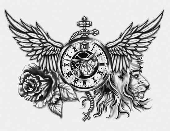 back bicep tattoo design