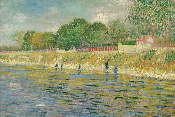 bank of the seine by vincent van gogh bank of the seine painting bank of the seine fine art prints and posters for sale