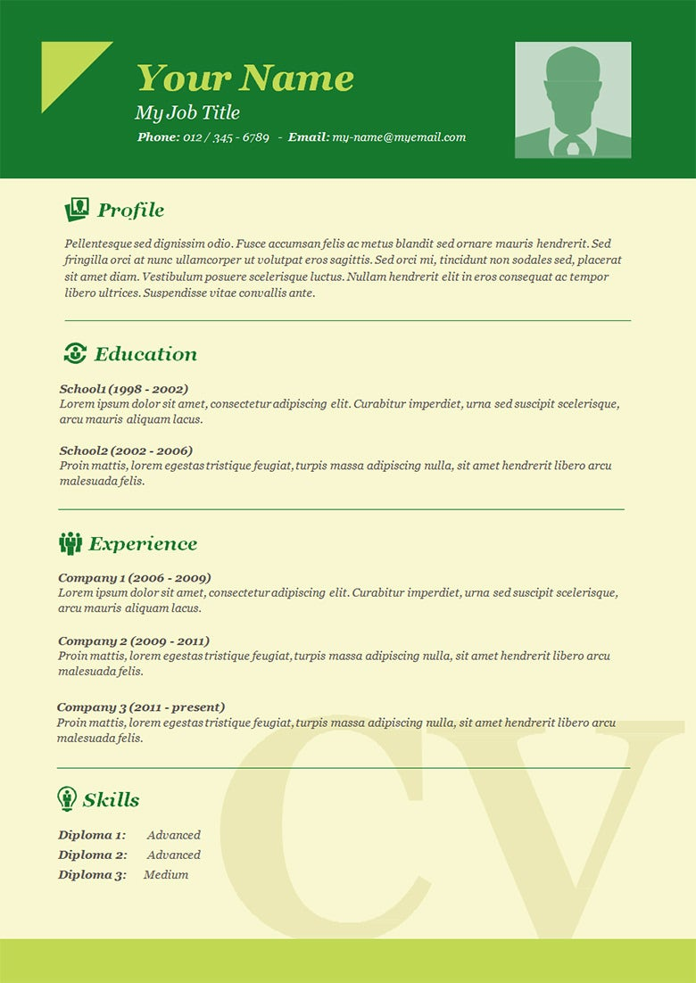 basic resume cv template