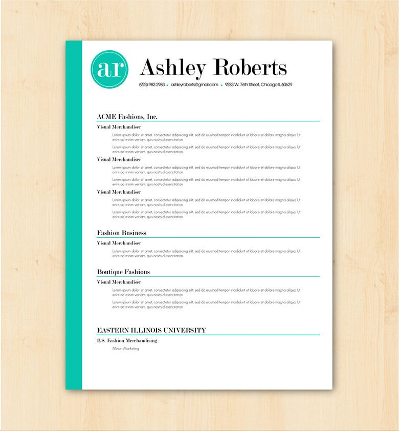 basic resume template details file format