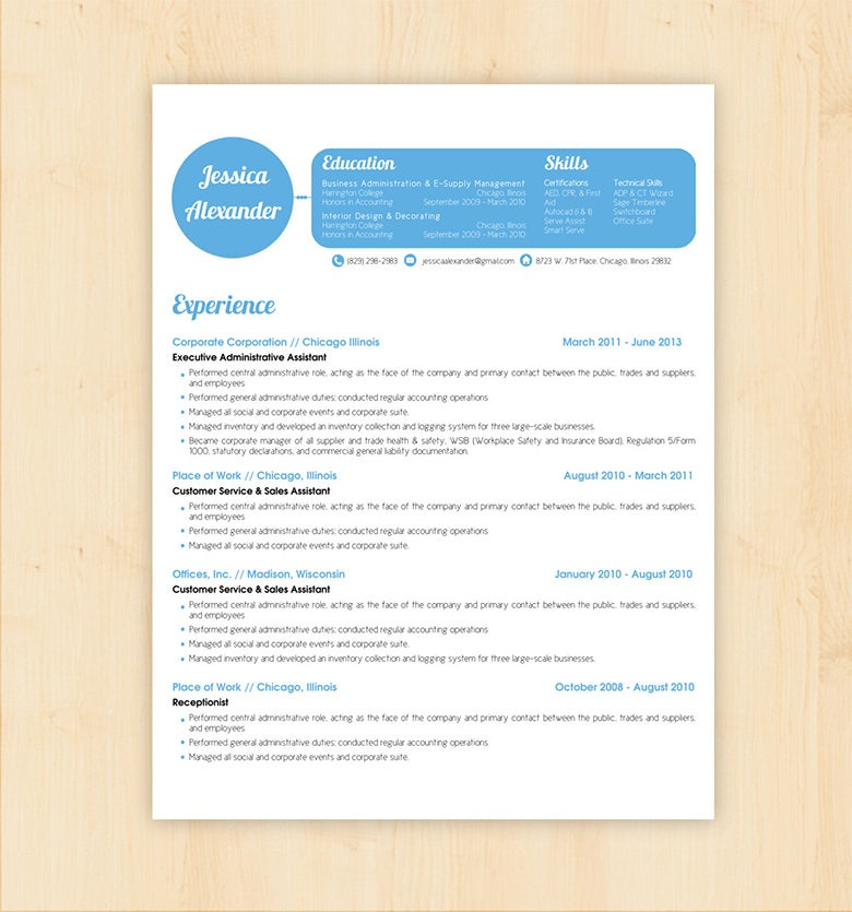 basic resume template for designer