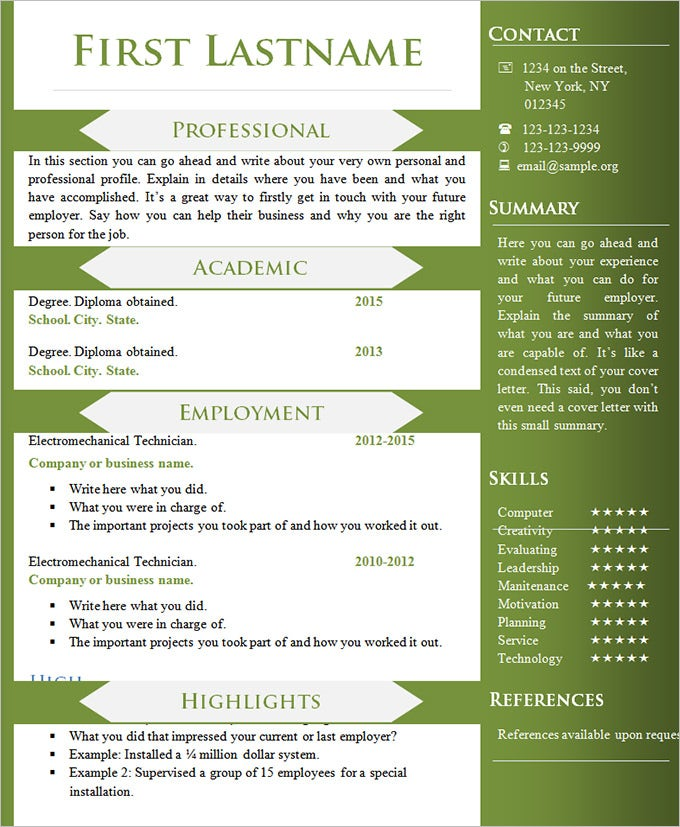 basic resume template different look. Resume Example. Resume CV Cover Letter