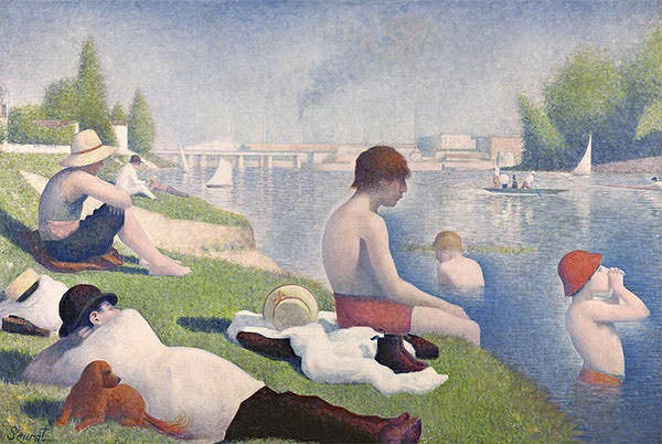 bathers at asnieres by georges pierre seurat bathers at asnieres painting bathers at asnieres fine art prints and posters for sale