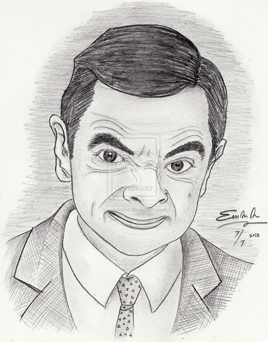 Bean pencil drawing