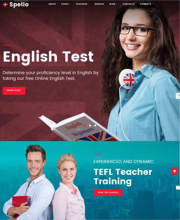beautiful education website template3
