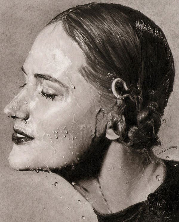 beautiful photo realistic pencil drawing
