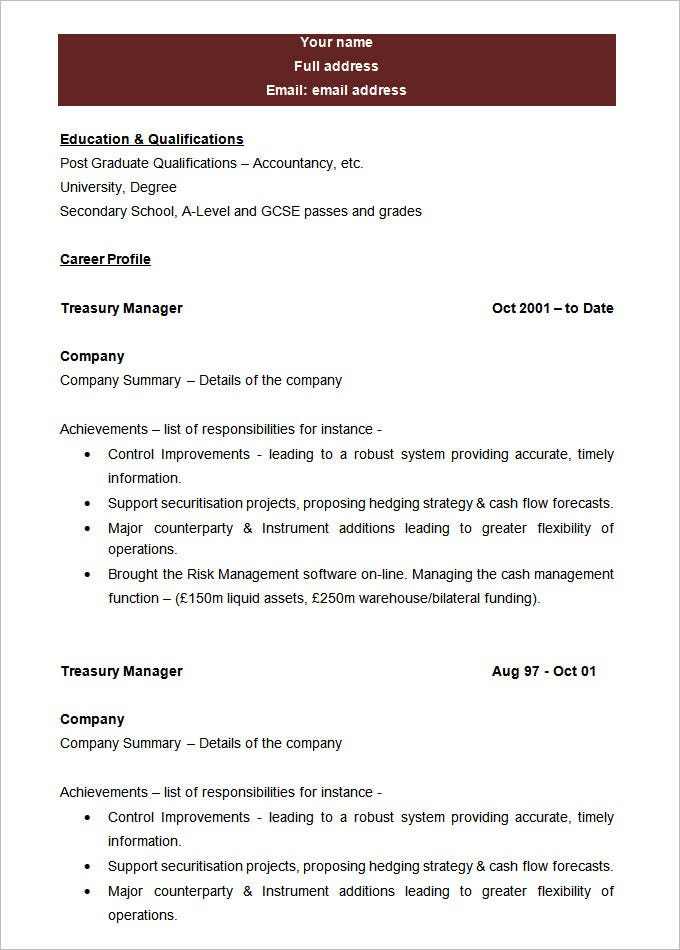 best blank resume template sample