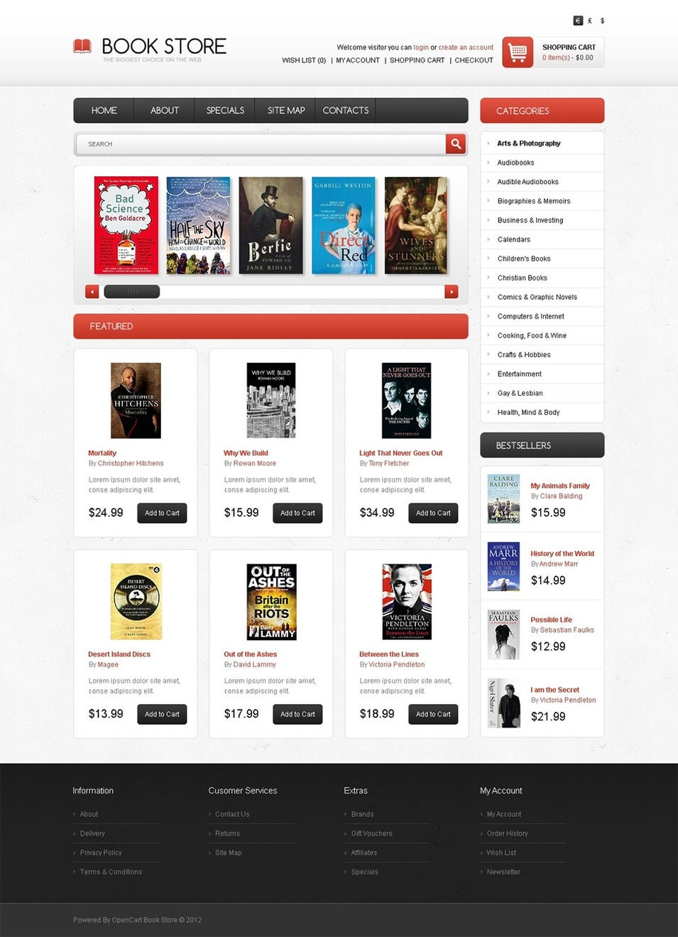 Bestsellers OpenCart Template Top Result 60 Inspirational Opencart Bookstore Template Gallery 2017 Phe2