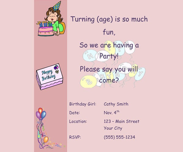 Birthday Party Invitation For Little S
