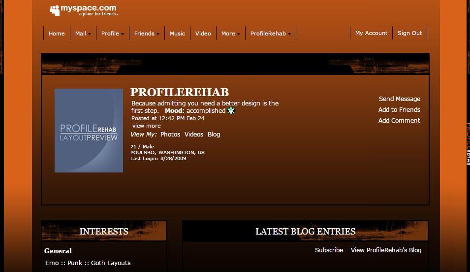 black orange myspace layout abstract halloween theme