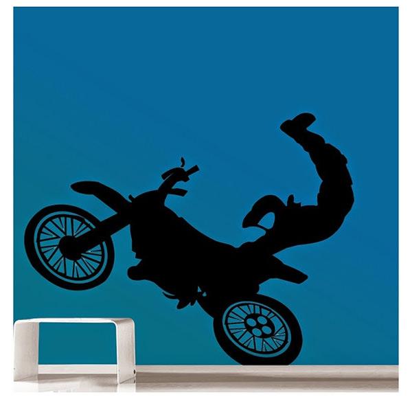 black risky moto wall sticker