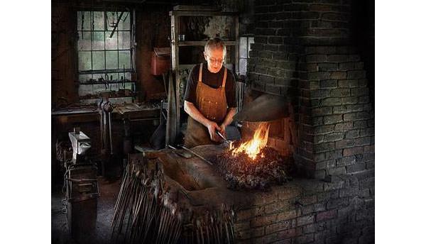 blacksmith blacksmiths like it hot canvas print canvas art by mike savad