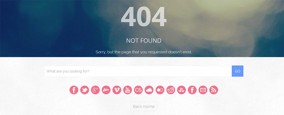 blake 404 not found page preview themeforest