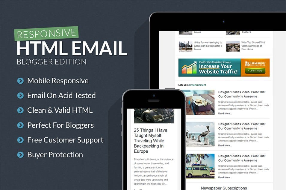 blogger responsive email template