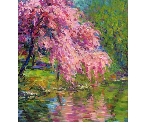 blossoming trees landscape canvas print canvas art by svetlana novikova
