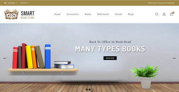 book store responsive theme