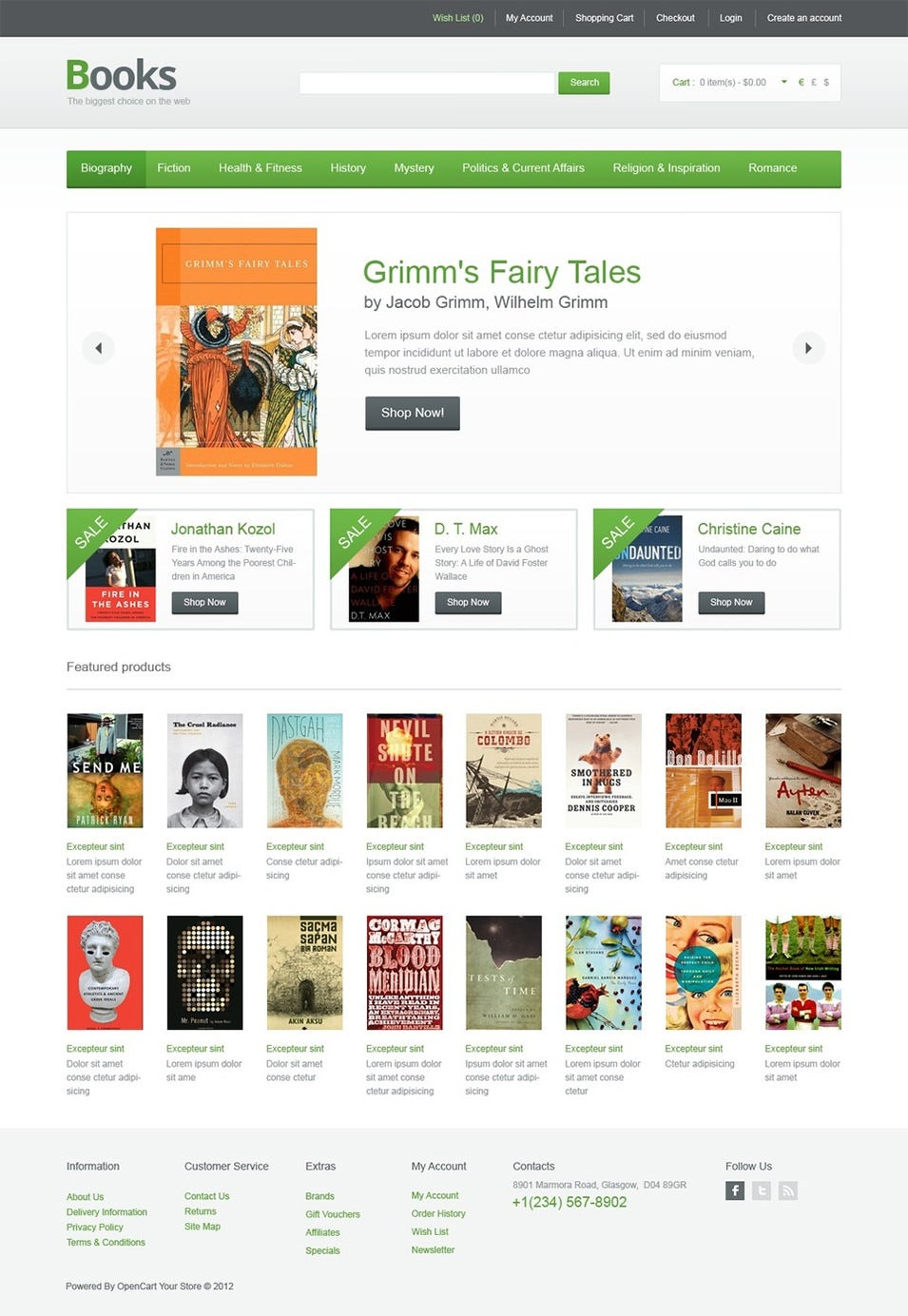 Bookstore open cart website templates themes free premium books online opencart template free demo download pronofoot35fo Choice Image