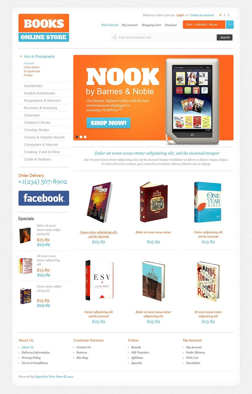 BookStore Open Cart Website Templates & Themes | Free & Premium ...
