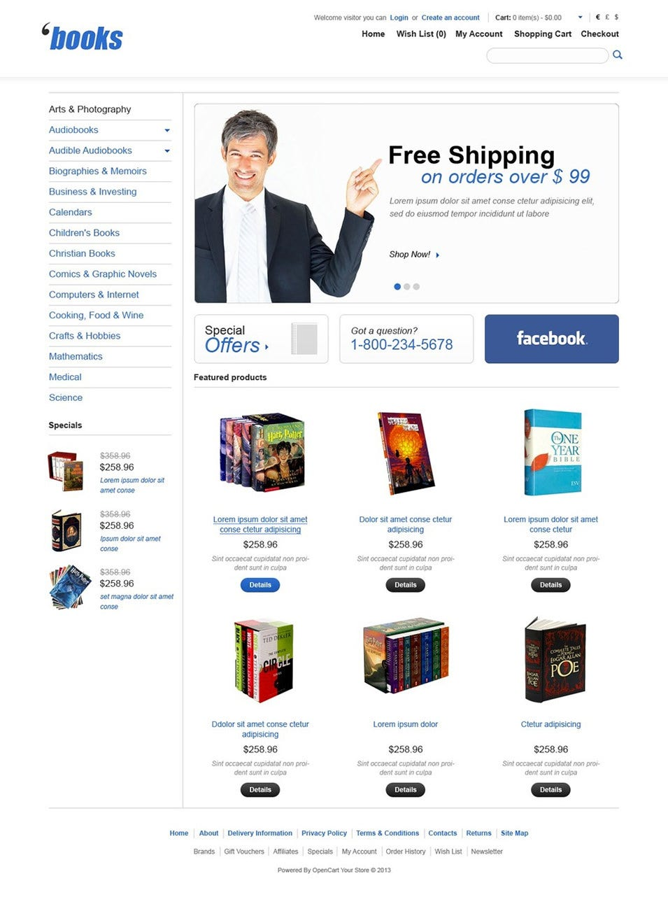 Books for any Taste OpenCart Template Top Result 60 Inspirational Opencart Bookstore Template Gallery 2017 Phe2