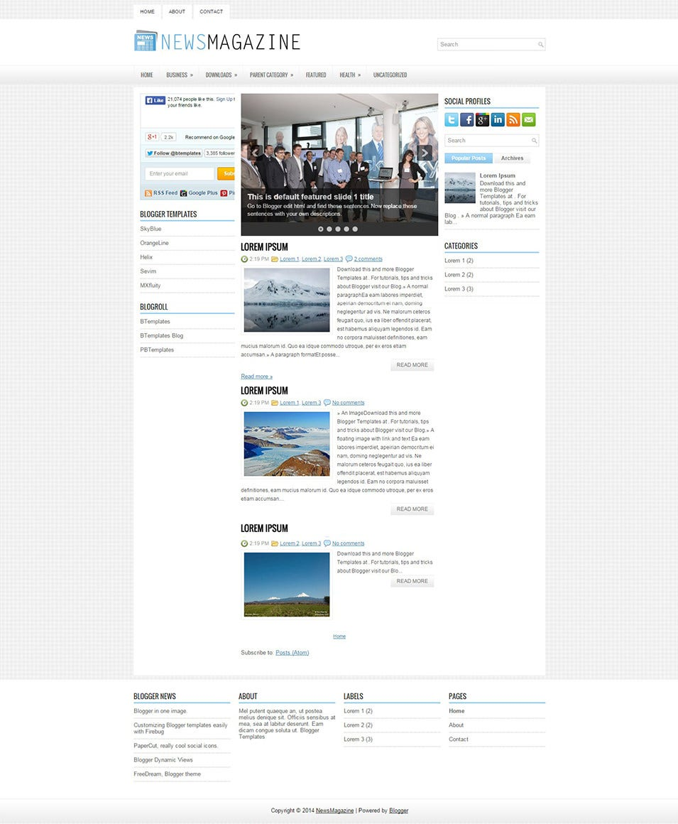 NewsMagazine  Free Journal Templates