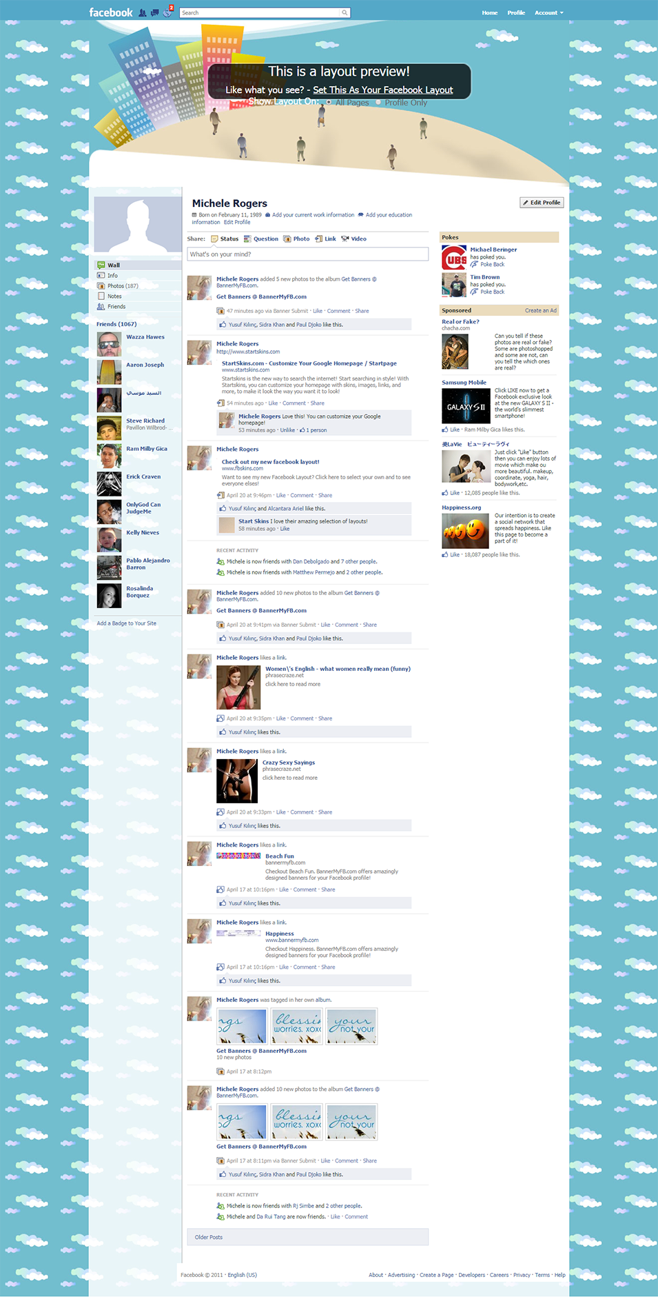 business facebook layout preview