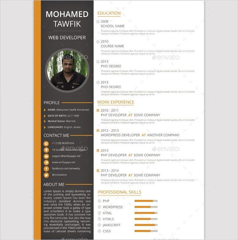 business format resume template downloads