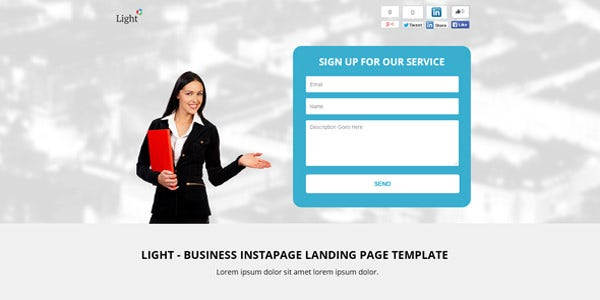 20 best signup landing page templates free premium templates business instapage landing page template flashek Image collections