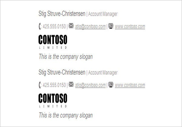 business slogan email signature template