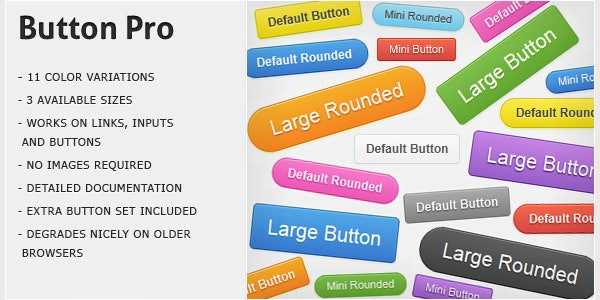 button pro css3 buttons