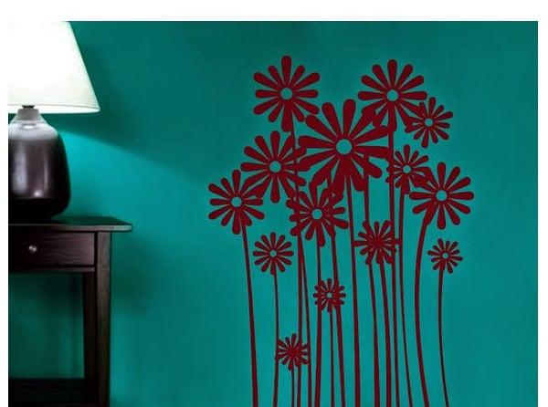 buy destudio maroon flower farm wall sticker best prices snapdeal