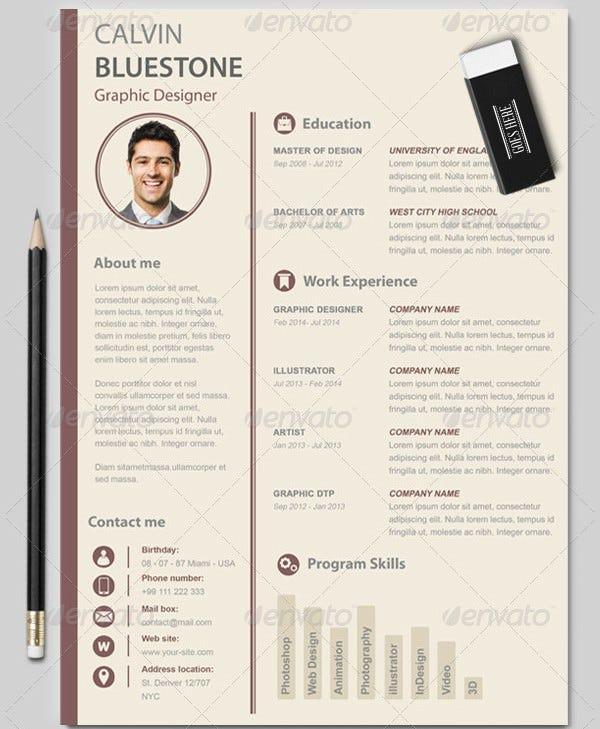 graphic designer resume template premium resume samples example