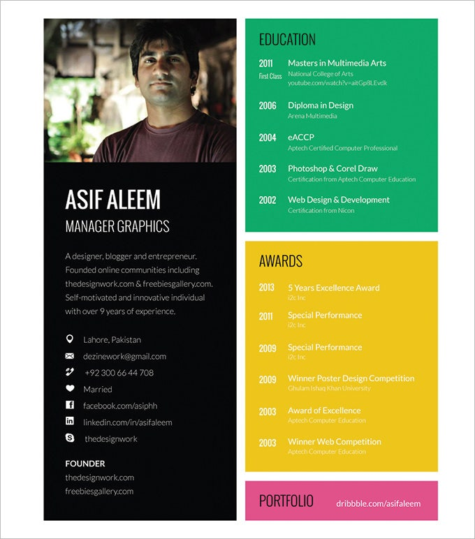 Graphic Resume Templates Graphic Graphic Design Resume Templates