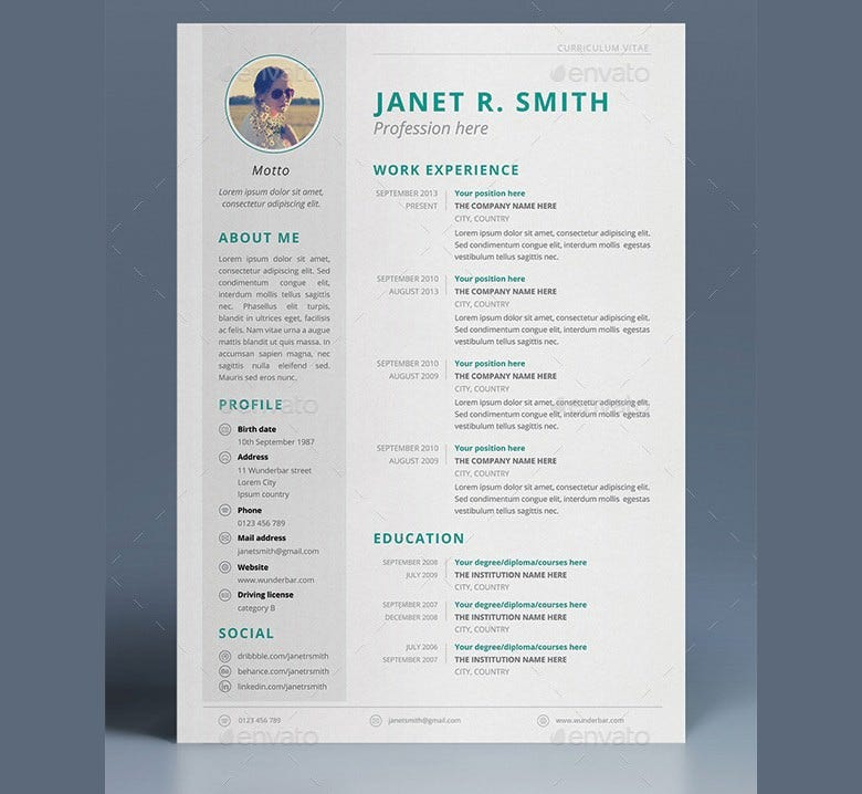 trendy cv templates   Hospi.noiseworks.co