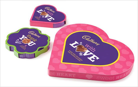cadbury chocolate packaging