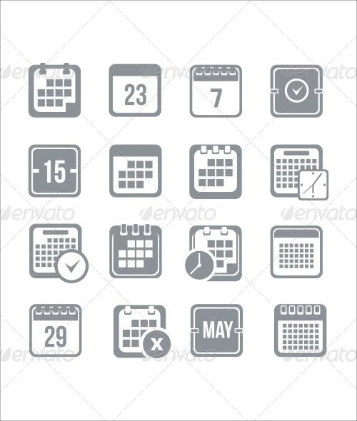 calendar icon set1
