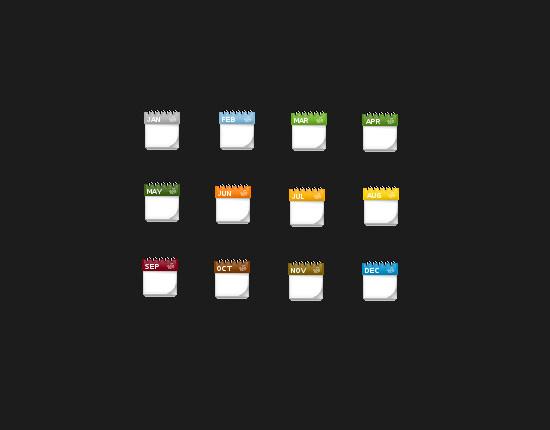 calendar icons 3