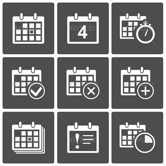 calendar icons set 3