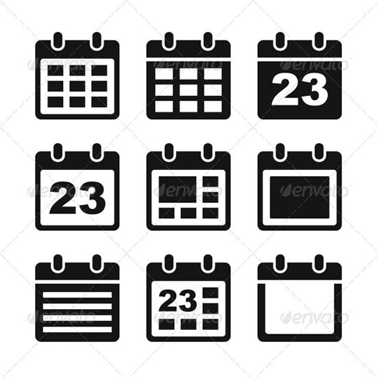 calendar icons set 5