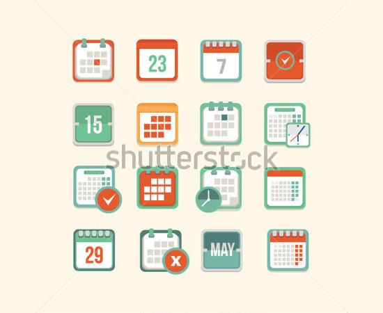 calendar icon set 7