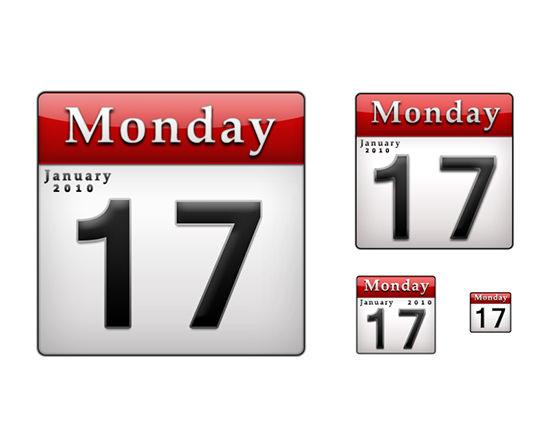 calendar icons psd