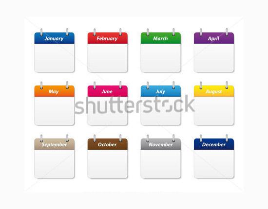 calendar icons set 9