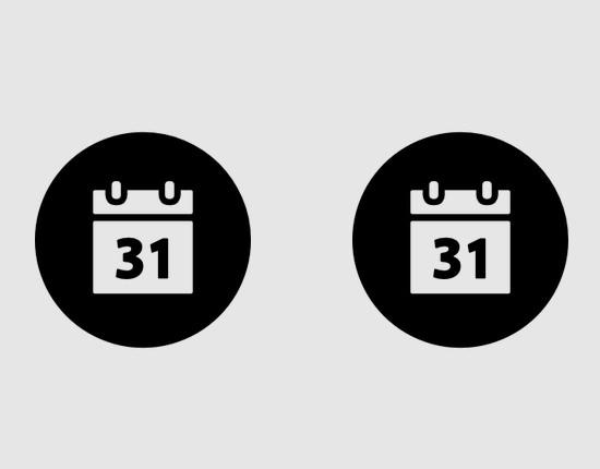 calendar round free icon