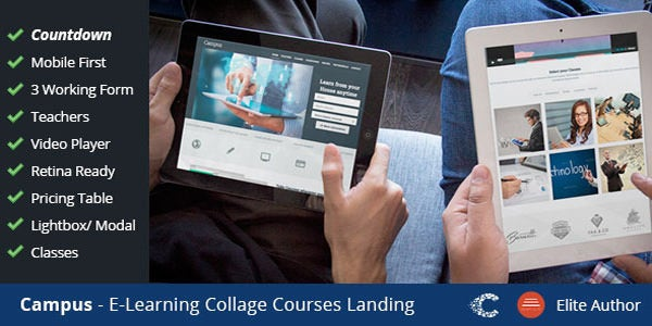campus education ecourse sign up landing